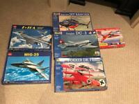 Job lot of 6 Revell, Airfix, Kitech Planes RRP £110