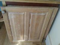 Solid oak used kitchen cupboard doors