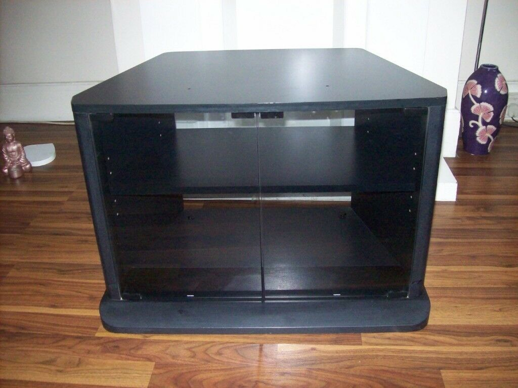 Black Corner Tv Cabinet With Glass Doors The Cupboard For Your Home