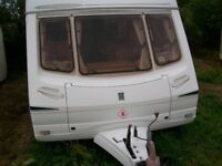 abbey freestyle 560 2005 6 berth with fixed bunk beds at the rear full awning serviced immaculate