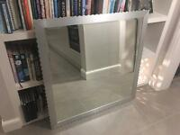 Large wall mirror - beautiful silver frame - reduced to go