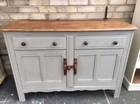 ERCOL SIDEBOARD SOLID ELM PAINTED MID CENTURY MODERN