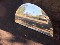 Vintage half circle mirror