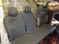 Vauxhall Vivaro bench seat and seat covers