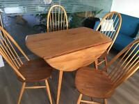 Vintage desirable Ercol Table and chairs.