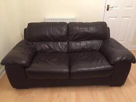 2 seater sofa with matching single seater armchair