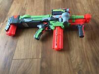 Nerf vortex nitron with laser sight