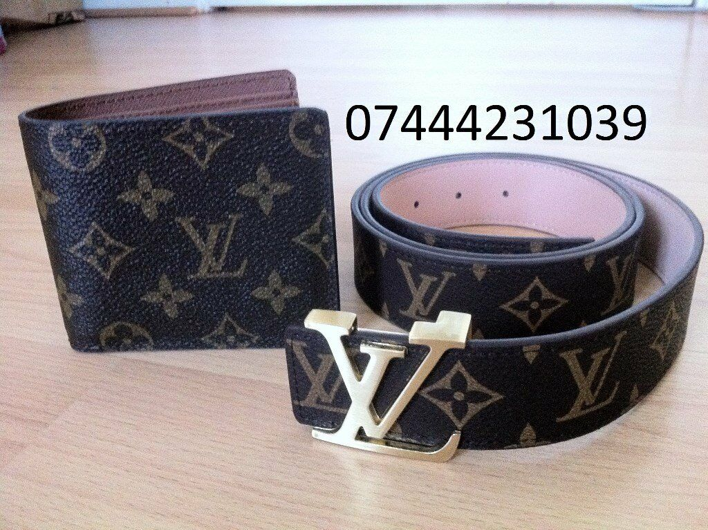 All Colour Louis Vuitton 2 for £45 Belt Lv Wallet £25 each