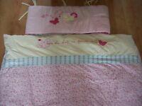 MOTHERCARE ROSEBUD REVERSIBLE COT BED/ TODDLER BED DUVET COVER,BUPMER,4.0 TOG ANTI ALLERGEN DUVET