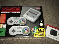Nintendo SNES and power adapter