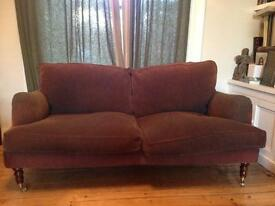 Liberty of London style sofa in brown cord material