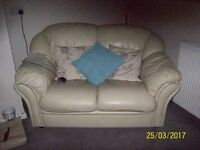 2 and 3 seater sofas. Cream colour. Good Condition. FREE !!!! Must be picked up from Busby .
