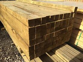 """🌲Wooden Pressure Treated Posts ~ 4""""x 4""""X 5Ft/8Ft/10Ft"""