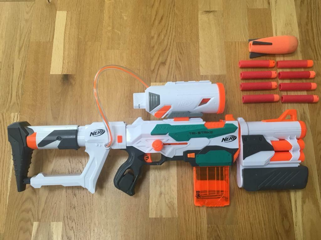 Nerf gun - modulus tri-strike with bullets