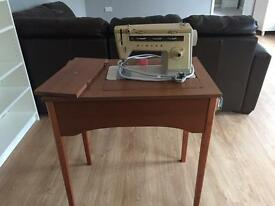 Vintage Singer 514 sewing machine and table