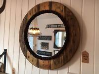 Round Cable Drum Mirror
