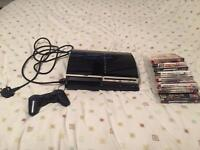 60gb ps3 plays ps2 games comes with 9 games