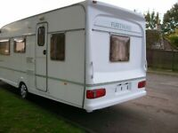 fleetwood countryside 5 berth with back bedroom awning only 1060kg light van
