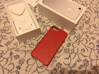 iPhone 7 official Leather case RED hardly used