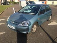 Honda Civic 2002 long mot and 1 owner from new