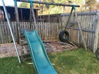 Little tikes swing set with slide