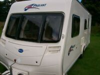 bailey pageant champange 4 berth 2008 side dinette full awning immaculate condition