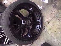 "Bmw single ac schnitzer 19"" black alloy wheel Can post"