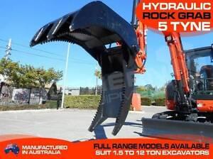 Hydraulic Rock Grab - 5 Tyne - Excavators Mount To suit 5.5 Ton Darra Brisbane South West Preview