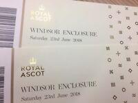 Royal Ascot Windsor Enclosure Sat 23rd June 2 tickets