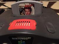 Nintendo 64, one controller and Goldeneye