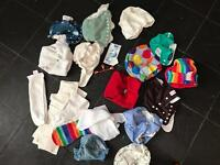 Mixture of washable nappies.