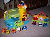 ELC WHIZZ AROUND GARAGE AND ELC EMERGENCY LIGHTS AND SOUNDS SET WILL INC 6 CARS