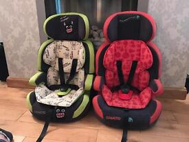 Cosatto zoomi car seats 1,2,3 -9kg – 36kg (9 months - 12 years approx.)