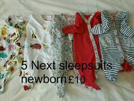 Baby Girl Next sleepsuits