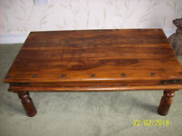 SOLID WOOD Contemporary Coffee Table £20. Collect Churchtown.