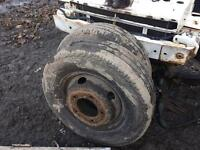Renault mascott 6.5 ton wheels and tyres £35 each