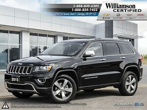 2015 Jeep Grand Cherokee LIMITED**SUNROOF**NAV**LTHR**BCK UP CAM