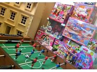 HUGE TOY BUNDLE - including wooden dolls house, A football table, Lego friends sets & much more.