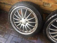 "18"" Alloy wheels and tyres bmw 5x120 225 40 18 3 series z3 1 series"
