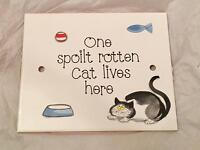 Hand Painted Cat Tile
