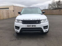 Range Rover sport dynamic 2017 White with Red Leather Panoramic roof Cost £72000 with £5000 extras