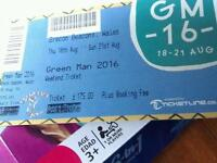 2 Adult Green Man and 2 kids go free festival tickets Thursday to Monday