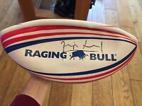 Genuine Phil Vickery Signed Rugby Ball