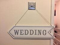 """Wedding"" Sign"
