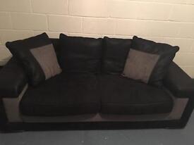 Black and Grey sofa - excellent condition