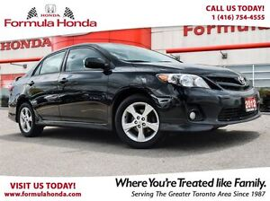 2012 Toyota Corolla S | BLUETOOTH | MINT CONDITION - FORMULA HON