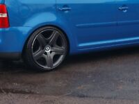 "19"" Bentley GT genuine OEM Alloy wheels (one has hairline crack) 5x112 Audi/VW fit"