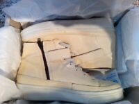 John lewis (Ex-display) eight white trainers womens size 4