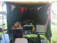 Canvas double kitchen / toilet tent