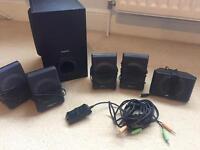 Surround sound computer speakers